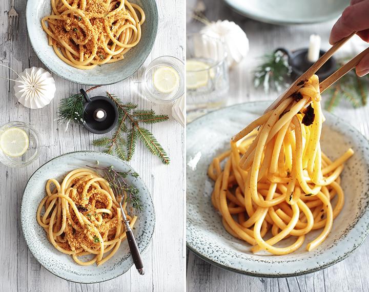 Nonna Teresas Pasta von Jamie Oliver mit Meerrettich-Chili-Bröseln