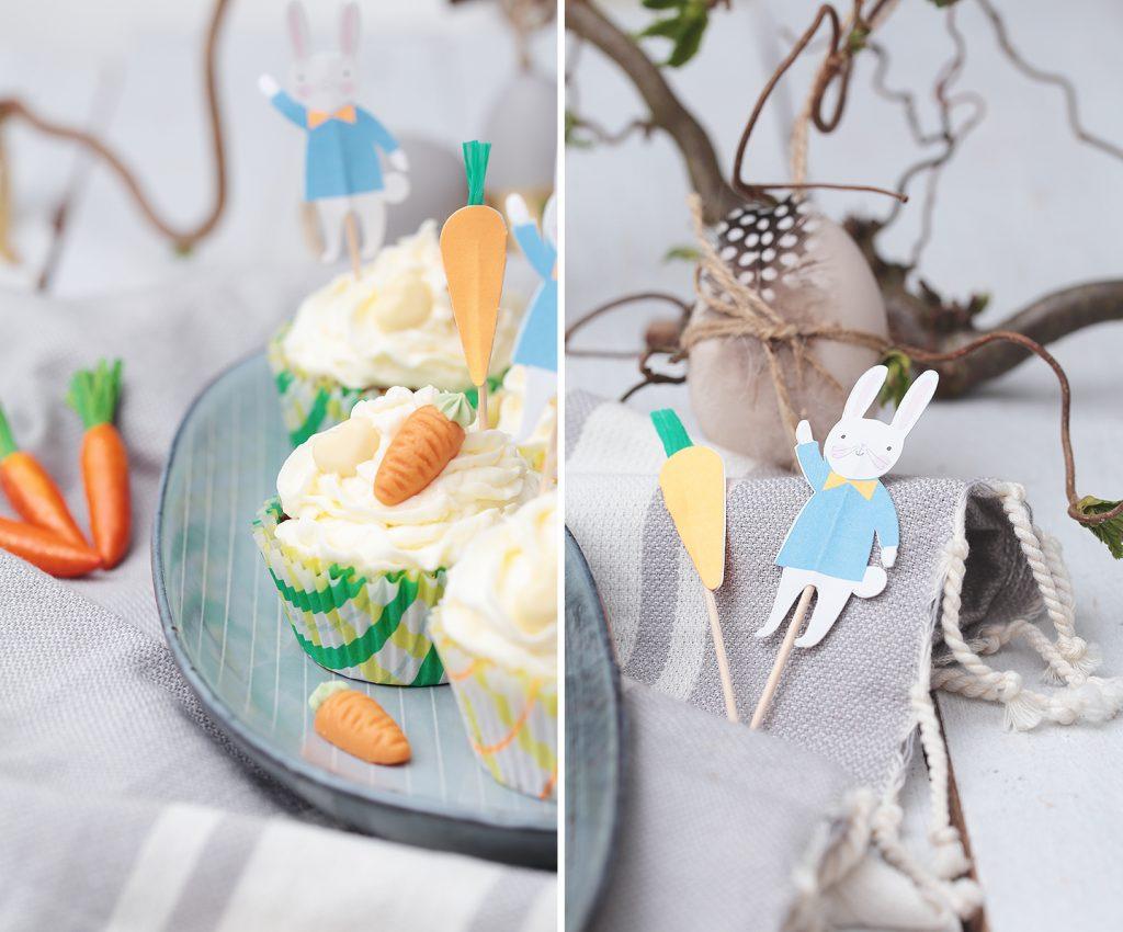 Möhren-Cupcakes mit Rum-Frostig