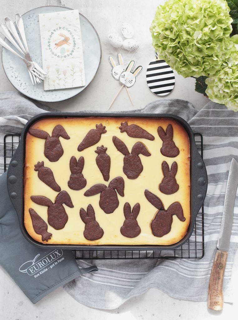 Hasen-Zupfkuchen mit Kirschen für Ostern