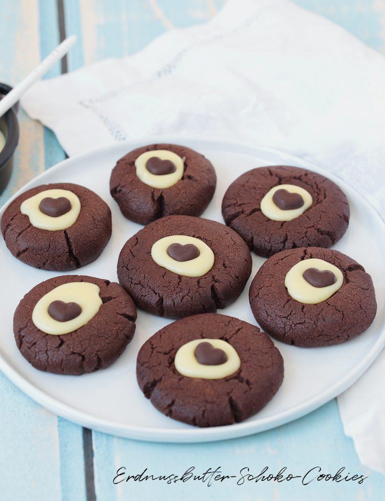 Erdnussbutter-Schoko-Cookies
