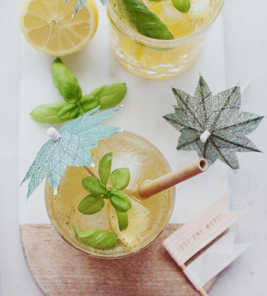 Basil Smash Cocktail ohne Alkohol