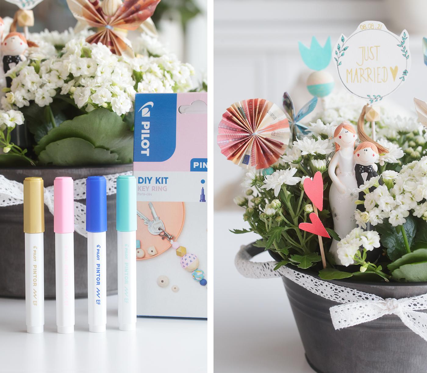 Blumenwiese als Geldgeschenk zur Hochzeit. Ein Projekt mit PILOT